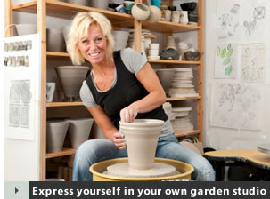 Express yourself in your own garden studio!